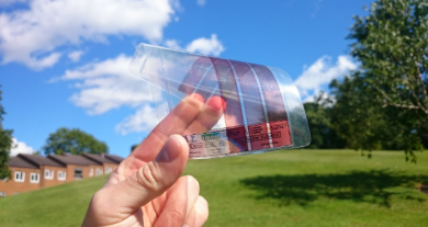 Super thin graphene sheets   Source (University of Surrey)